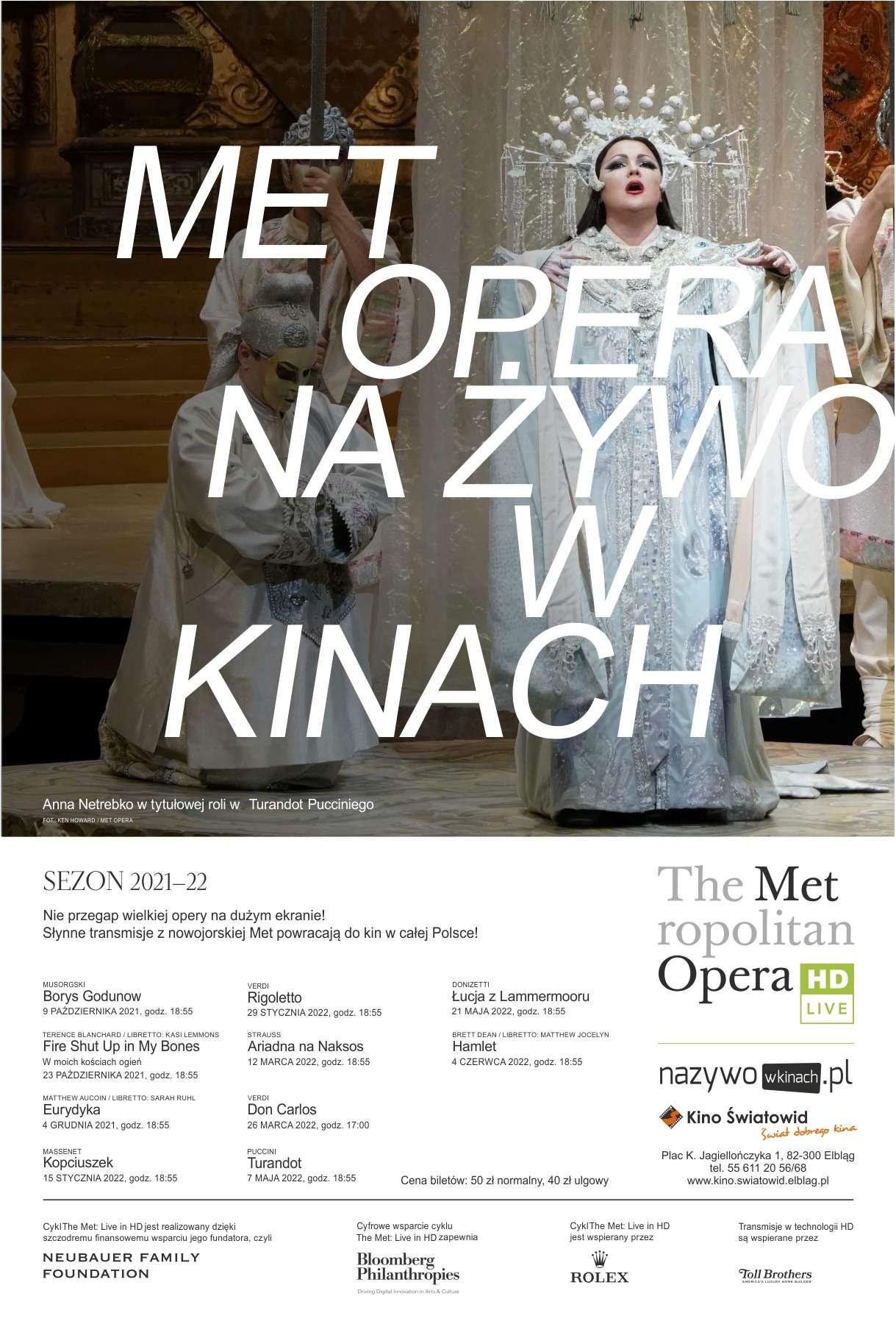 Rusza sezon z The Metropolitan Opera w Kinie Światowid