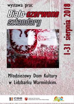 """Wystawa prac """"biało czerwone sztandary"""""""