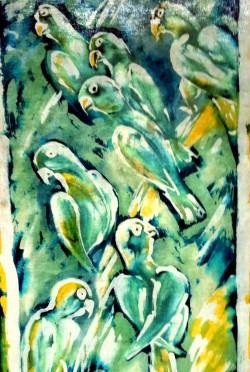 Ptaki woskiem malowane